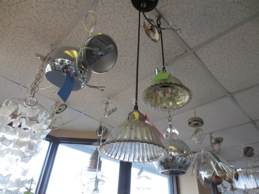 "Mottled mercury glass was a consideration especially when our salesperson showed it to Charlie ""lit up""."
