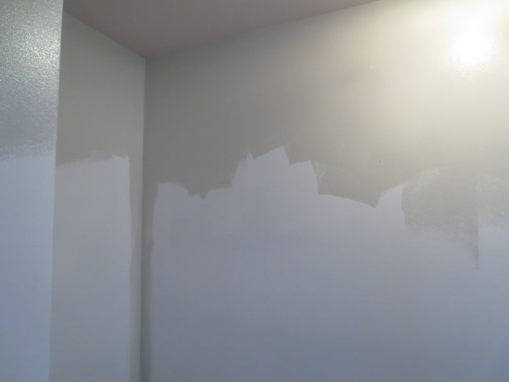moonshine on the top contrasted with white primer on the bottom. Black Bedroom Furniture Sets. Home Design Ideas