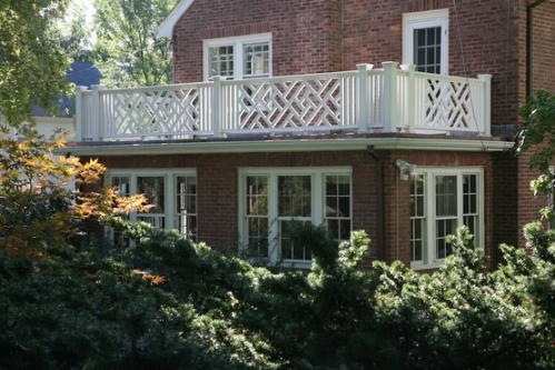 Although our house is not brick I love the look of the Chippendale railing on the second floor porch.
