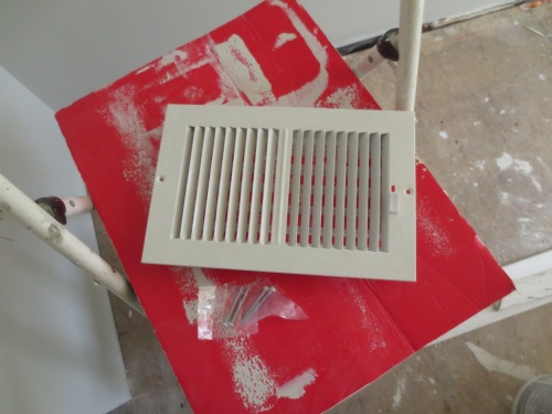 I hate painting these grilles -- they never look right to me.