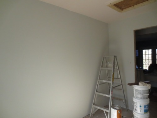 Can't wait to transform this closet into a clothing storage dream  -- but I must wait until a floor is installed. Rats!