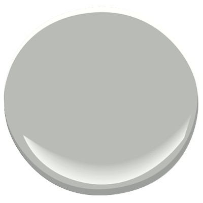 Coventry gray by Benjamin Moore should look good with the marble tile in the master bathroom.