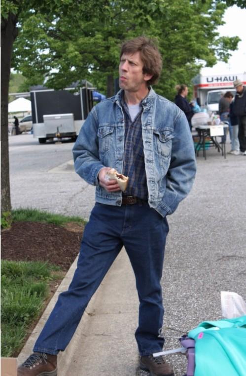 I'm pretty sure Charlie likes denim judging by his wardrobe.