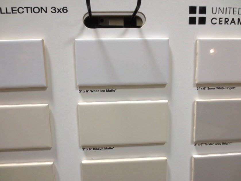 """3"""" by 6"""" subway tile comes in many shades."""