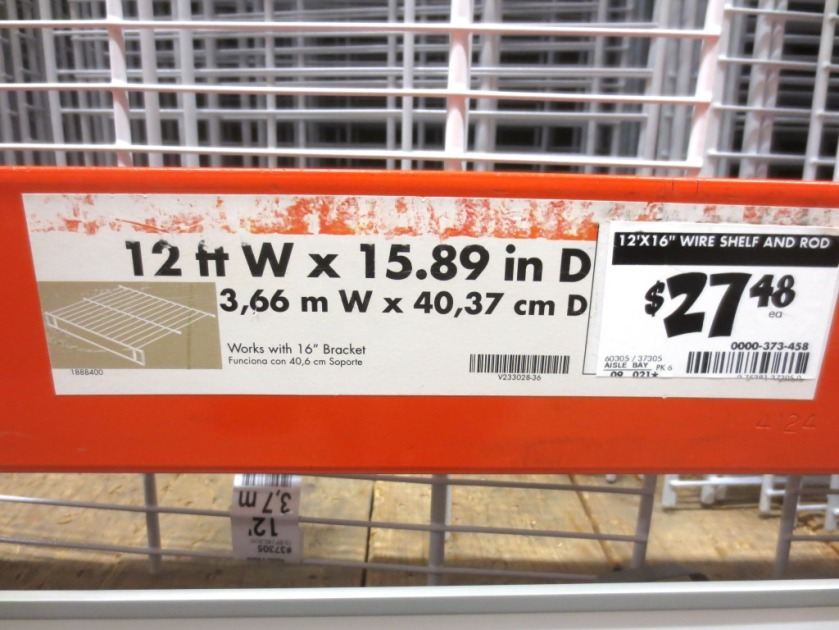 The right price but the wrong descriptive picture and the wrong information (bracket size) on the label.