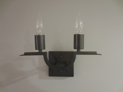 These clear bulbs give off lots of light but almost disappear in the shade when turned off.
