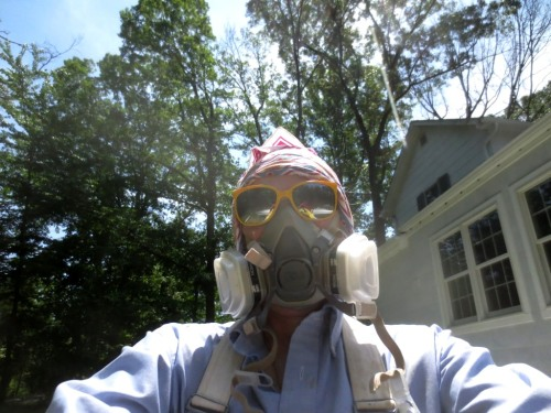 Lest you think I didn't get in on the action -- check out my protective gear.