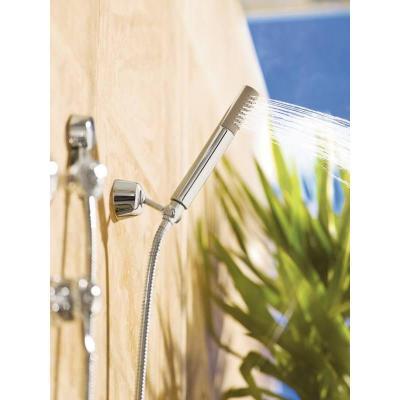I love the sleek shape of the Moen Fina handheld shower.