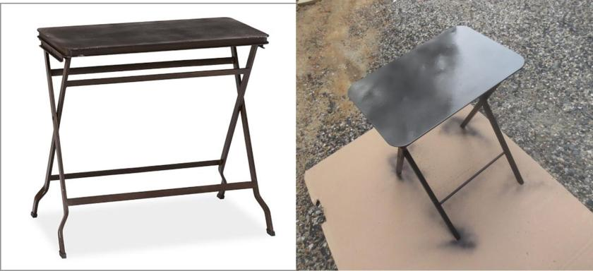 Carter table on left; Glade table on right.