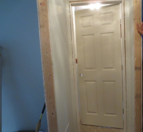 One of the master bedroom doors.