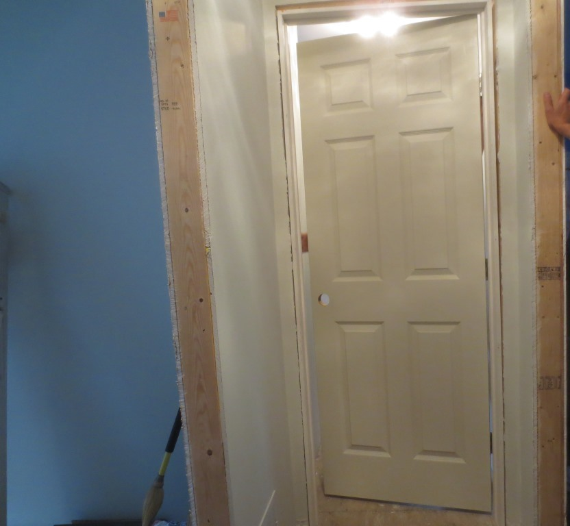 The master bathroom door has a small hitch when opening it that needs to be adjusted. Then it needs some paint.