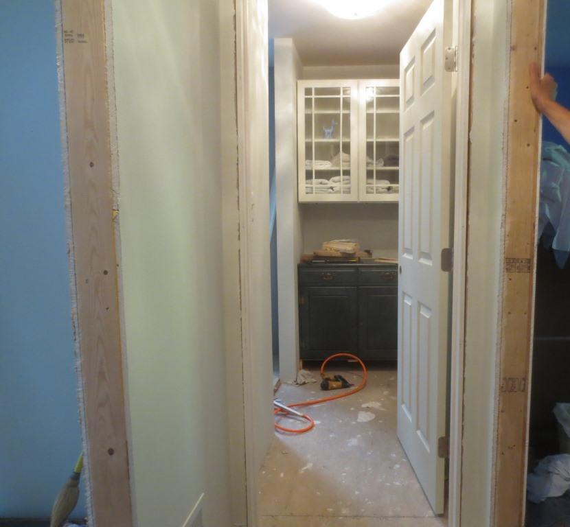 The master suite hall and closet still have sub-floor.