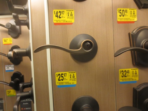 "The display at Lowes -- this lever now called the ""Accent""."