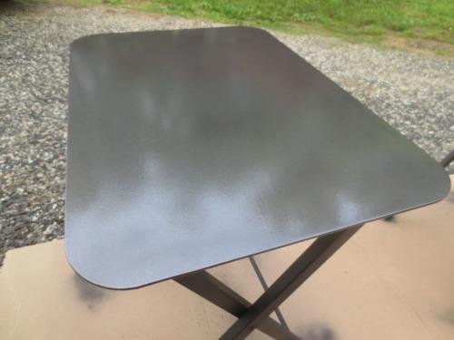 Metallic charcoal is dark grey like gunmetal.