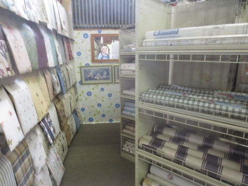 Tons of paper on display ready for immediate purchase at Plymouth Wallpaper.