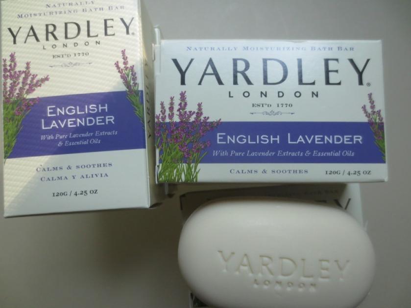 Lightly scented lavender soap.