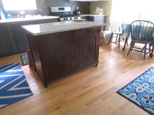 Kitchen island project -- finished.