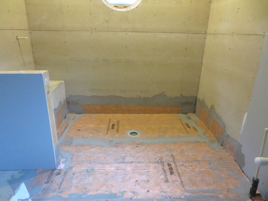 Waterproofing the Shower Benches – Let\'s Face the Music