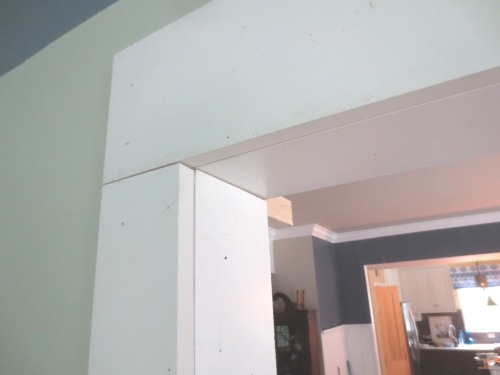 This is how the corner -- before caulk and trim -- comes together.