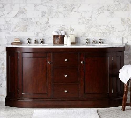 The brinkley demilune vanity for Master bathroom vanities double sink