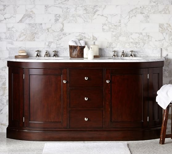 The Brinkley Demilune vanity