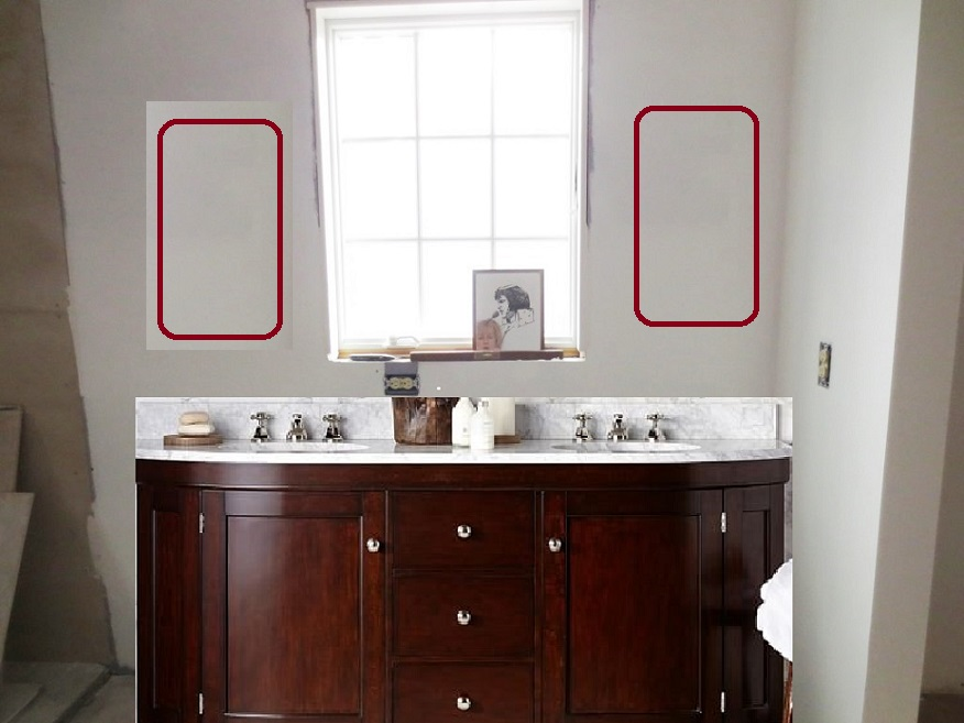 Should Vanity Lights Hang Over Mirror : Bought the Sinks Let s Face the Music