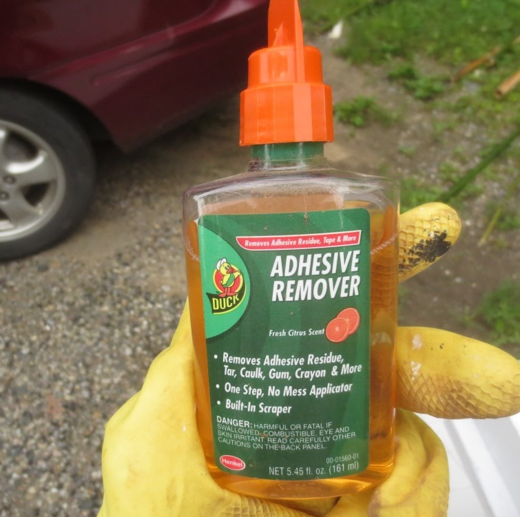 This adhesive remover took off some of the dark spots on the saw blade.