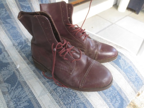 Child-size riding boots.