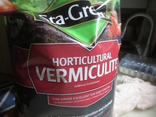 A small bag of vermiculite costs about $5.