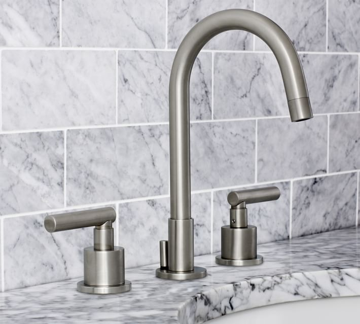 The Pottery Barn high arc faucet has a modern vibe and costs $549.