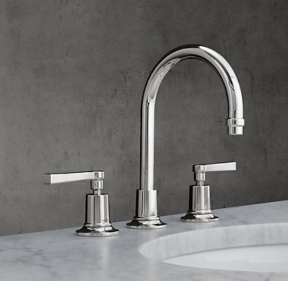 The beautiful faucet at Restoration Hardware is tres cher.