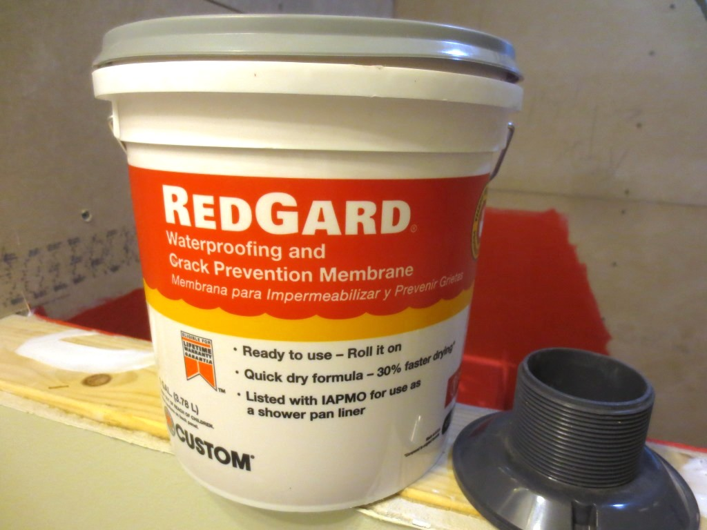 a small tub of redgard covered both showers with plenty remaining