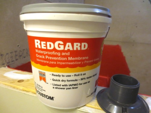A small tub of RedGard covered both showers with plenty remaining.
