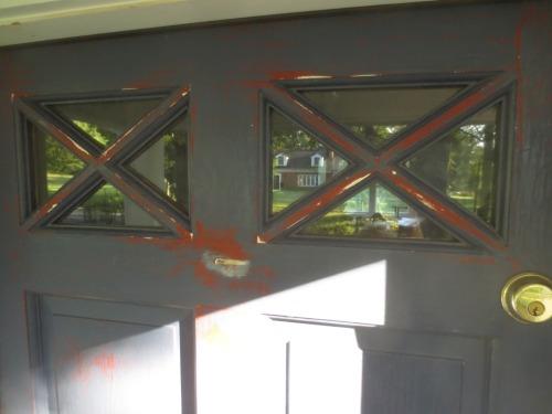 The X-shaped windows are distinctive.