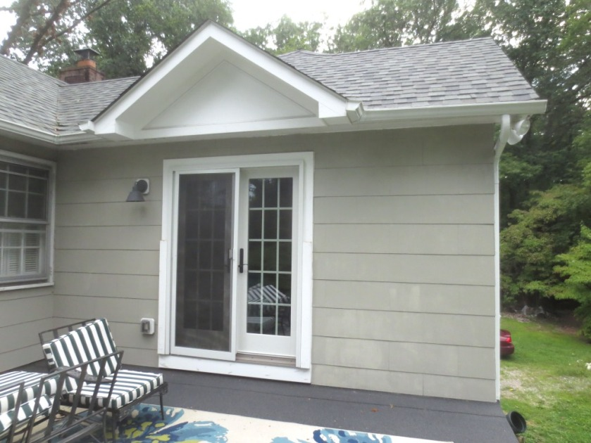 There is also a similar shaped dormer over the French doors leading from the master bedroom to the roof deck.