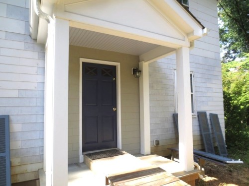 We got involved in some projects that were not on the list like painting the porch ceilings and taking down shutters.