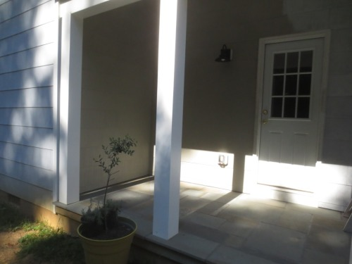 This side of the house gets only the afternoon sun.