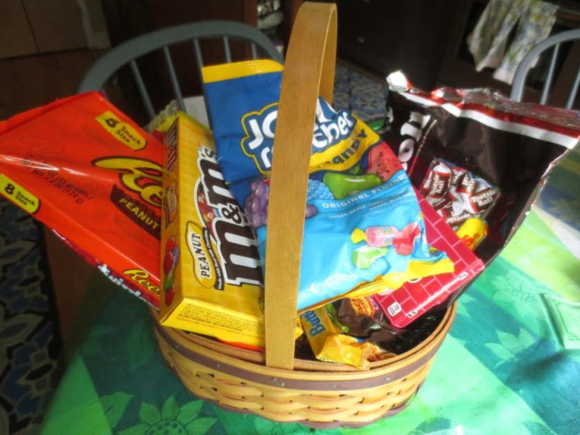 A basket of candy for Charlie which he need not share with me.