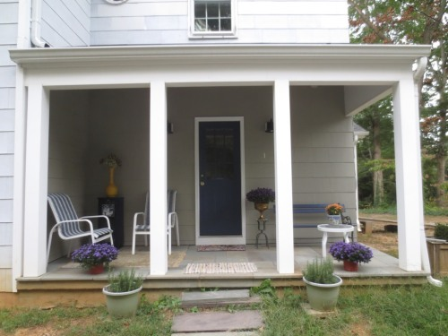 I cleaned and spruced up the porch a little bit. (Not on the list.)