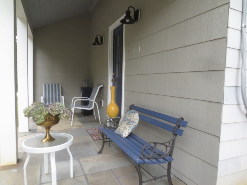 The porch is transitional from summer to autumn.