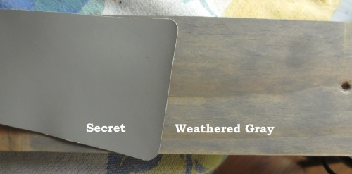 Secret and Weathered Gray look good together.