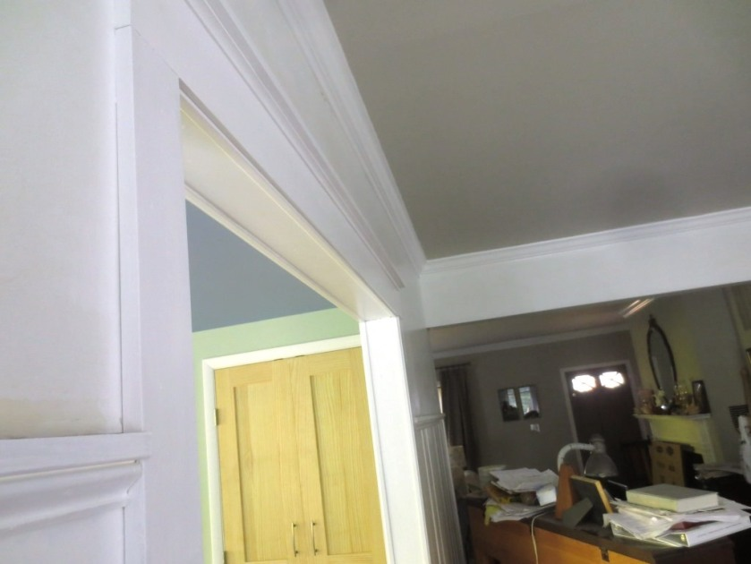 Even one coat of paint elevates the appearance of the trim.