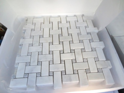 I have 9 boxes of marble basketweave tile.