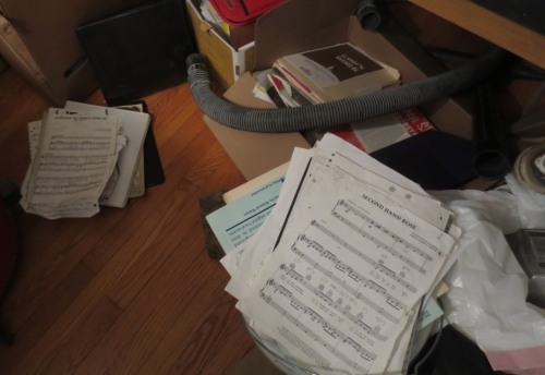 One of our pervasive and ongoing clutter issues is sheet music. We must focus on a permanent and accessible solution.