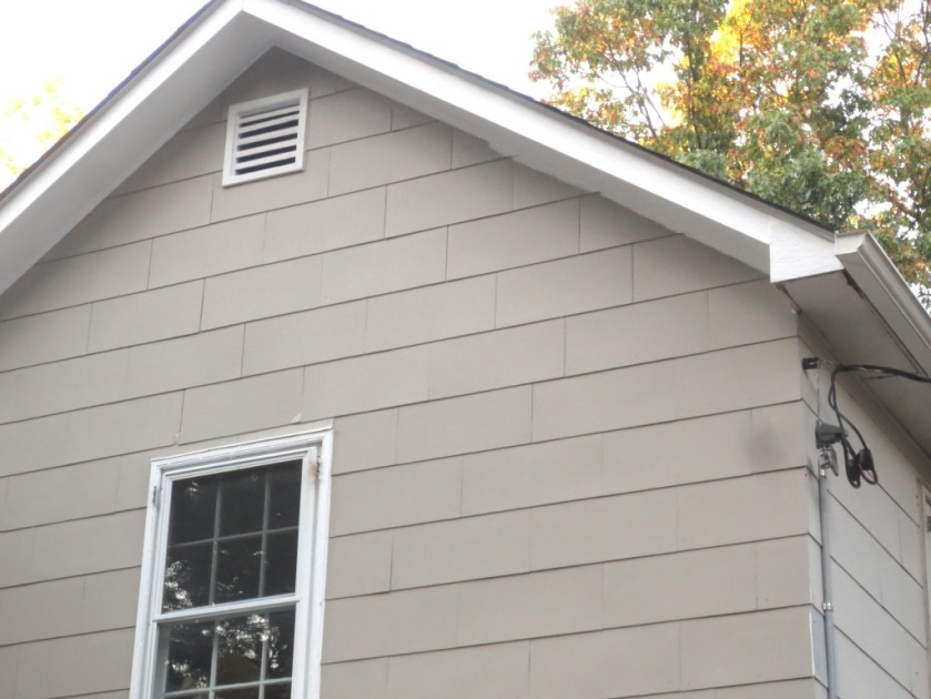 A small area under the eaves needs to be cut in with the house color.