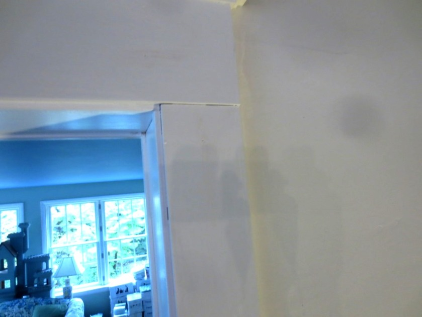 The gap between the boards surrounding the opening between the dining room and conservatory would look better filled with caulk.