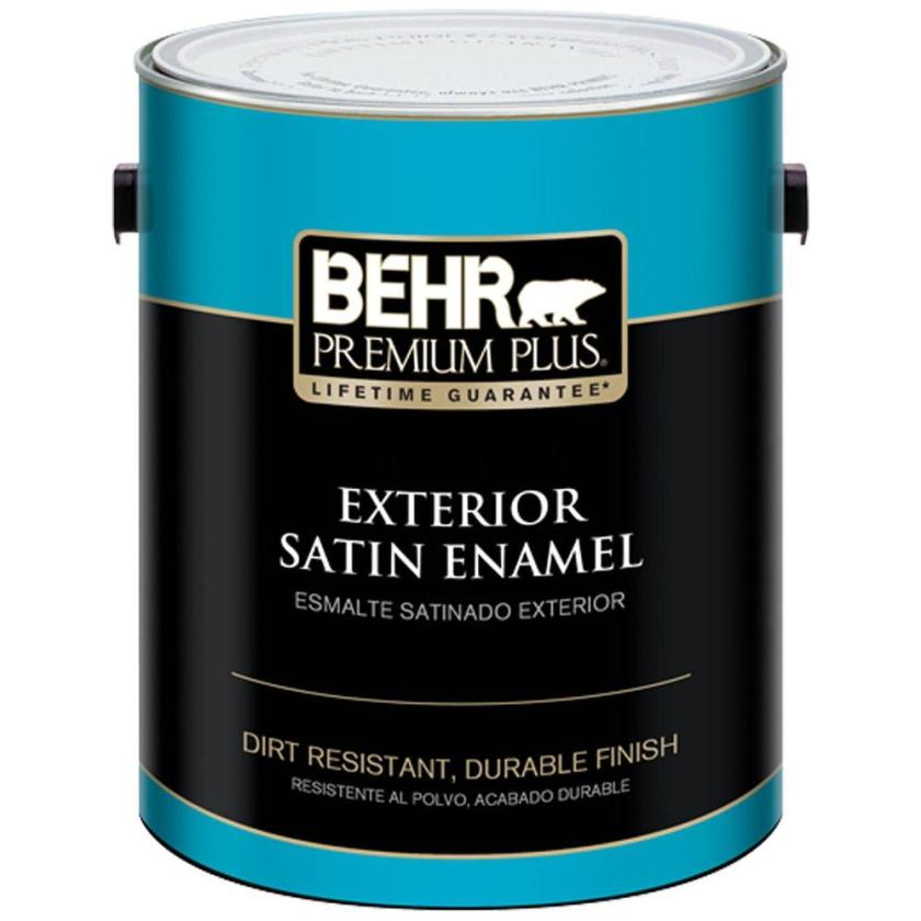 Ultra Pure White Satin Enamel Exterior Paint is necessary for the exterior window trim.