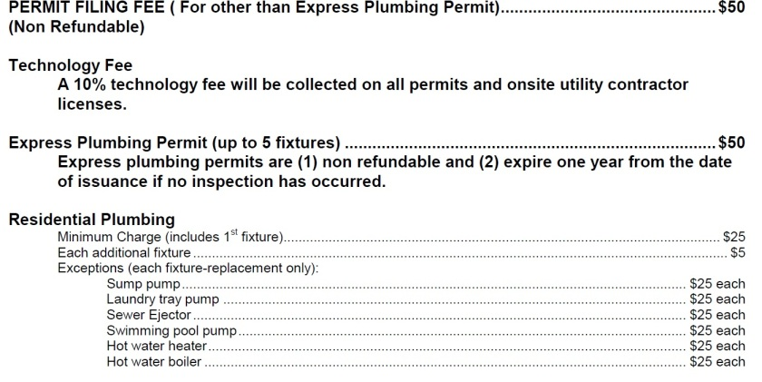 Our county's permit fees.