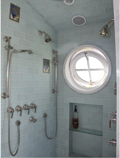 This is my inspiration for the smaller conservatory shower -- round window, frosted glass subway tile.