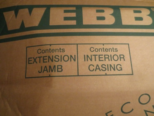 The extension jambs came two to a package.